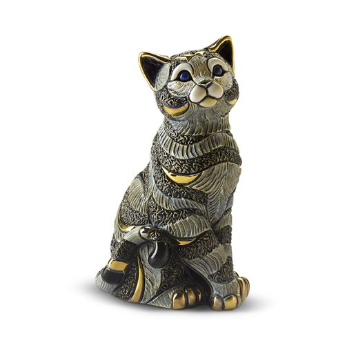 Rinconada De Rosa Blue Tabby Sitting Cat Figurine (XL)