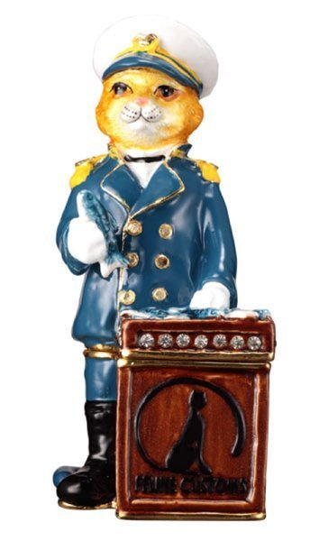 """ConfishCAT"" Collectable by TrinCATZ  Cat Jewelled Box"