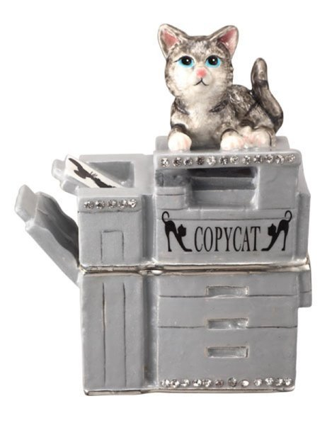 """CopyCAT"" Collectable by TrinCATZ  Cat Jewelled Box-Figurine"