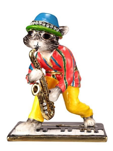 """HepCAT"" Collectable by TrinCATZ  Cat Jewelled Box-Figurine"