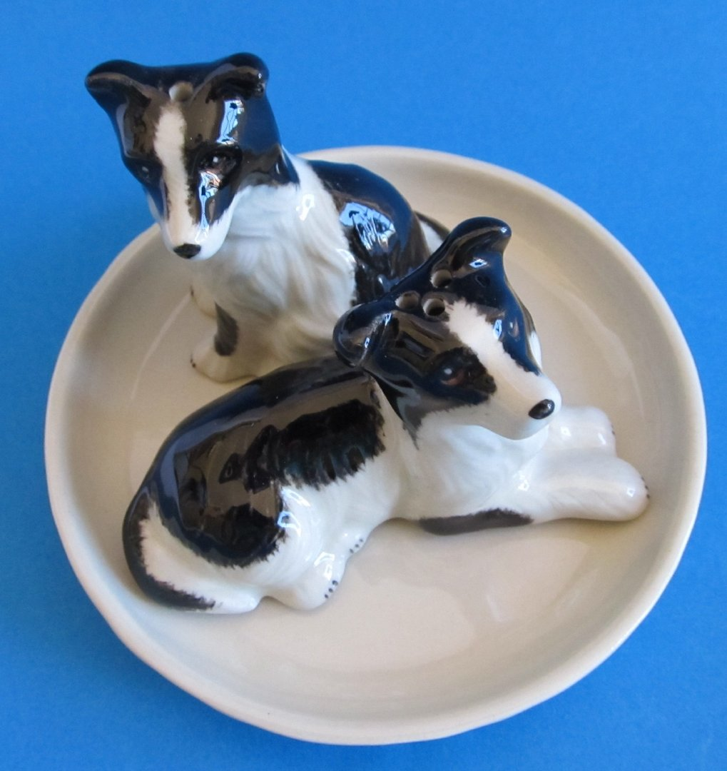 Buy Border Collie Dog Salt Amp Pepper Shakers Ceramic