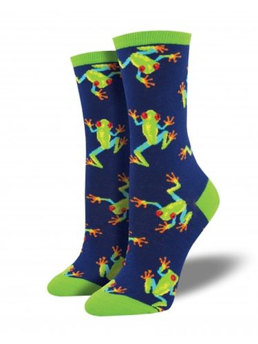 Tree Frog Socks -Navy SockSmith Cotton Womens