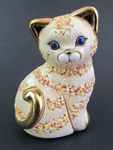 Rinconada De Rosa -Orange Confetti Kitten Figurine