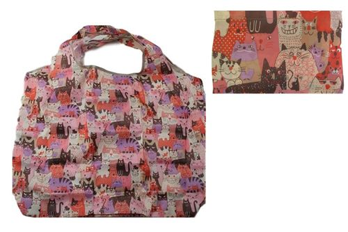 Cat Animal Pattern Foldable Reusable Shopping Bag