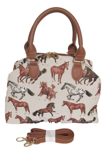 Tapestry Running horse handbag or shoulder bag