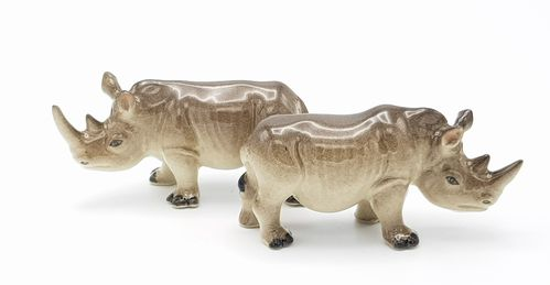 Rhinoceros Ceramic Salt & Pepper Shakers