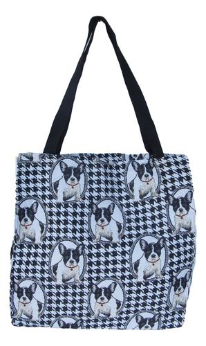 Tapestry French Bulldog Gusset Tote Bag