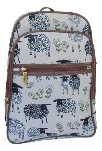 "Tapestry Sheep ""Spring Lamb"" Large Backpack - Signare"