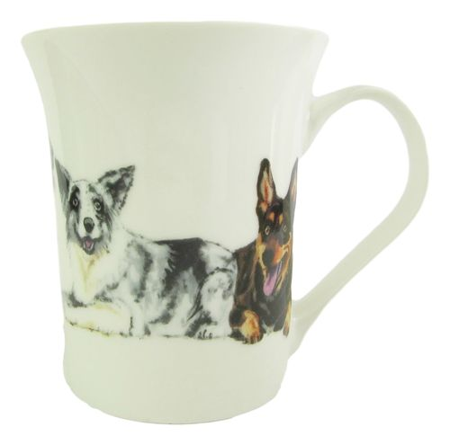 Working Dog Mug Bone China, Cattle Dog, Border Collie, Kelpie